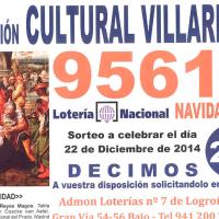 Lotería Navidad Asociación Cultural Villarrica