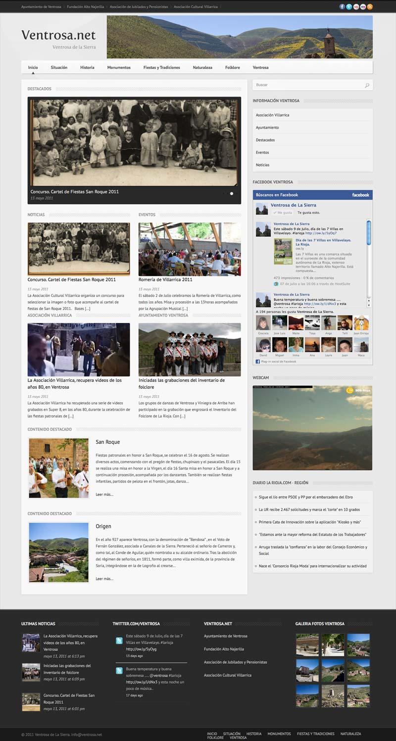 Nueva Web  de Ventrosa.net