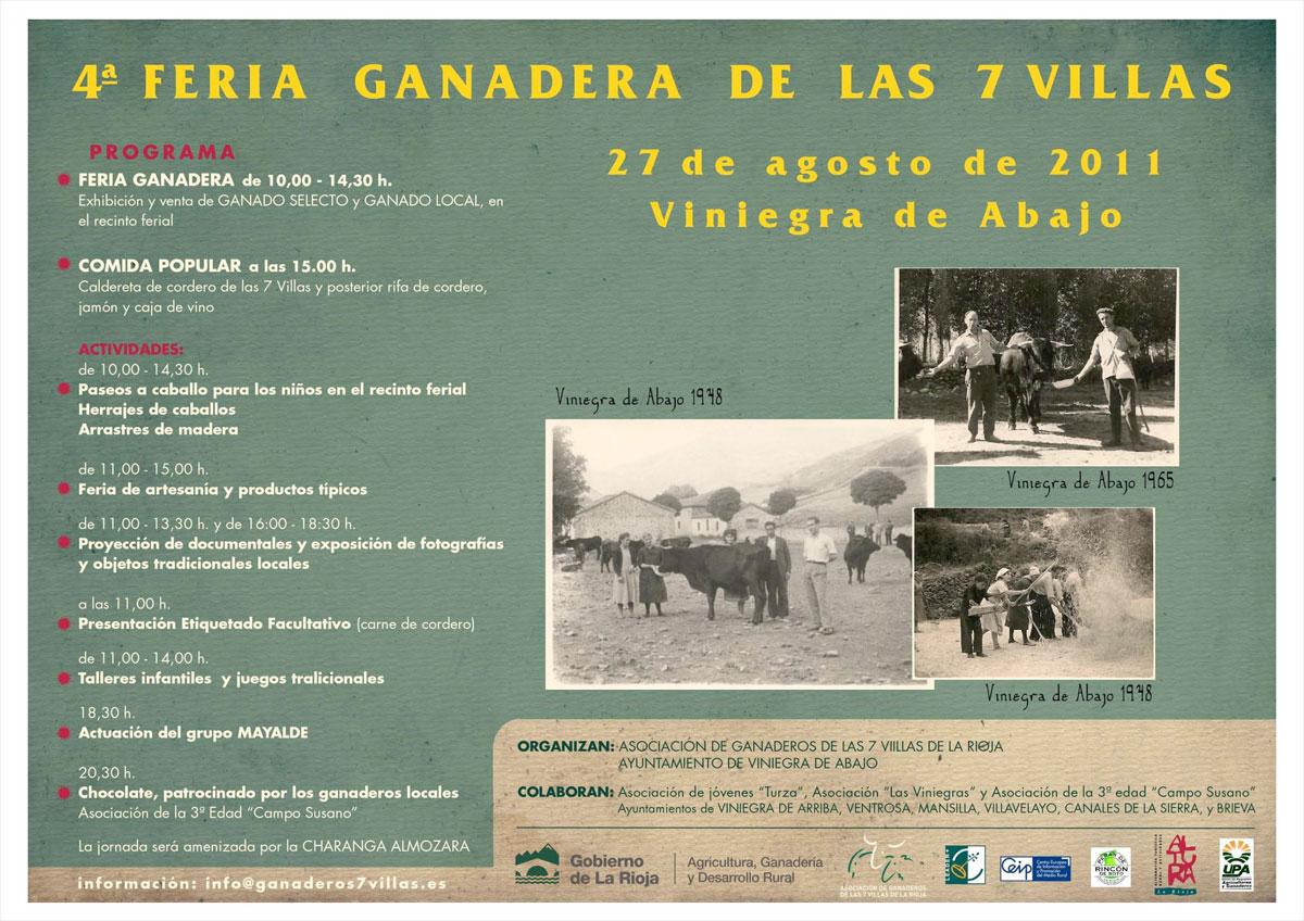 Cartel Feria de Ganadería de las 7 Villas